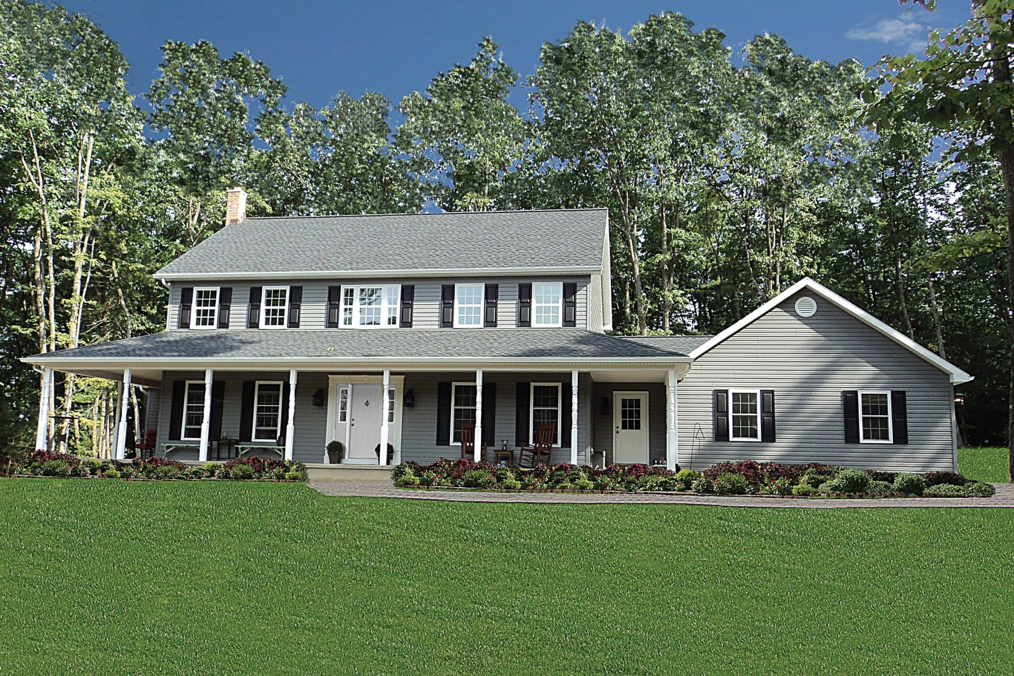 03 Colonial Optional Exterior Without Porch Railing And