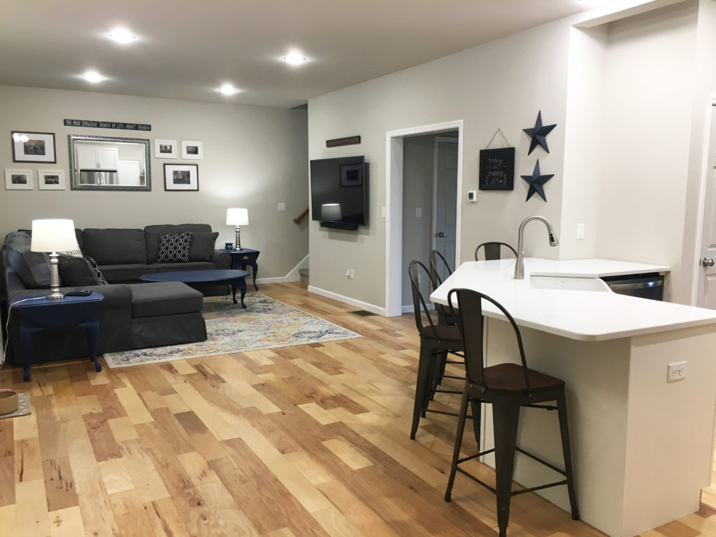 Hartford Style Kitchen and Living Area