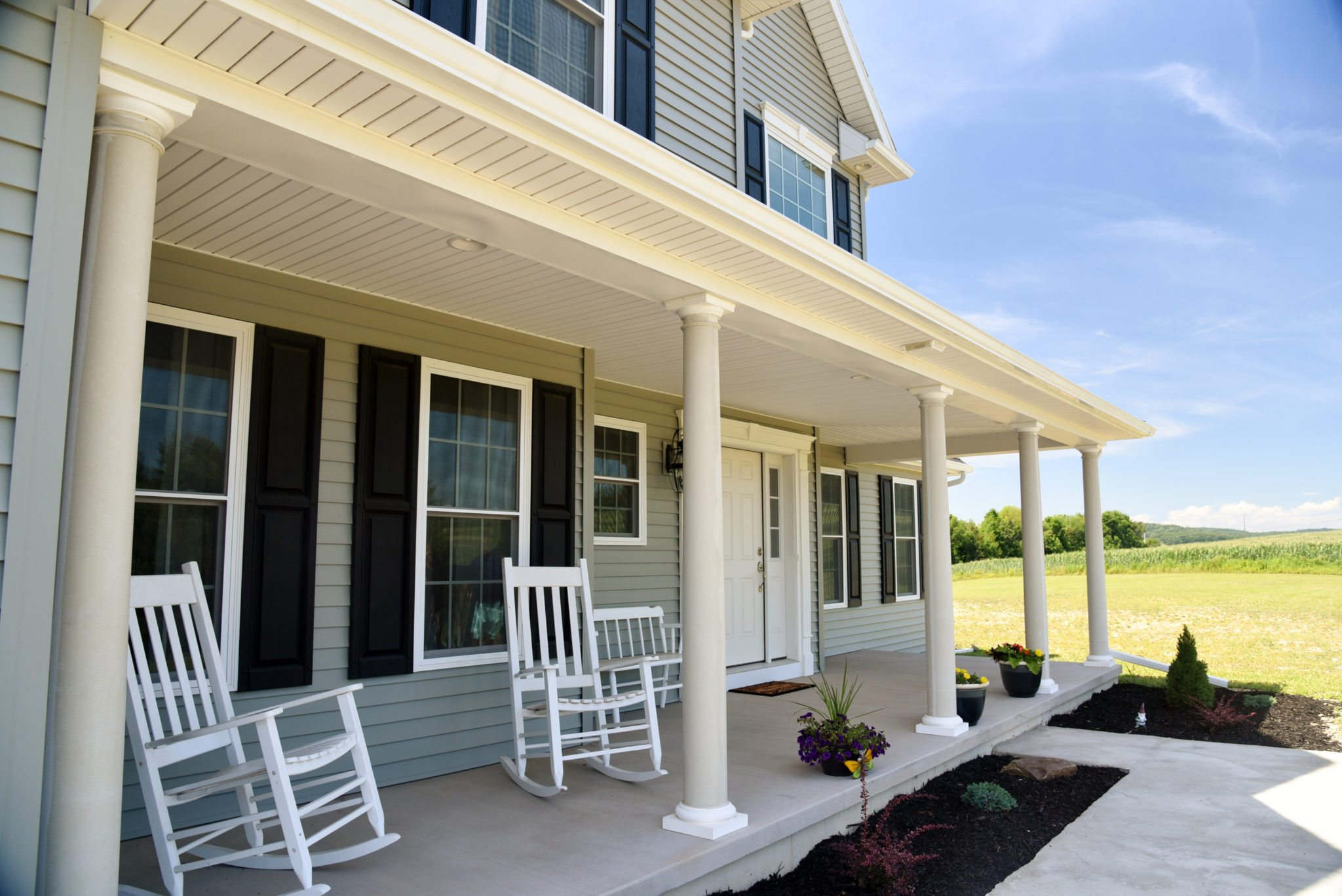 4 appealing and welcoming front porch styles brookside for Side porch designs