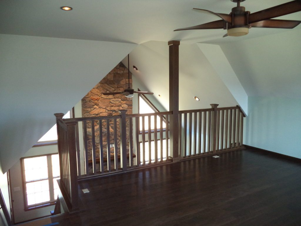 Slate Run Loft with Modified Staircase Placement