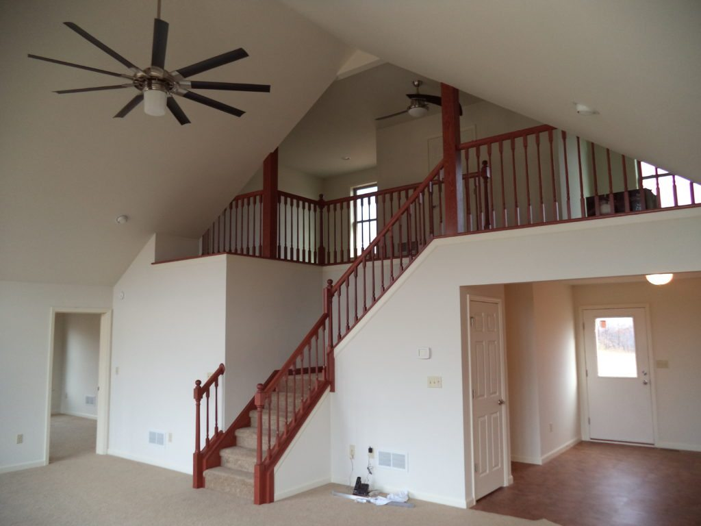 Westfield 2 Great Room Stairs to Loft