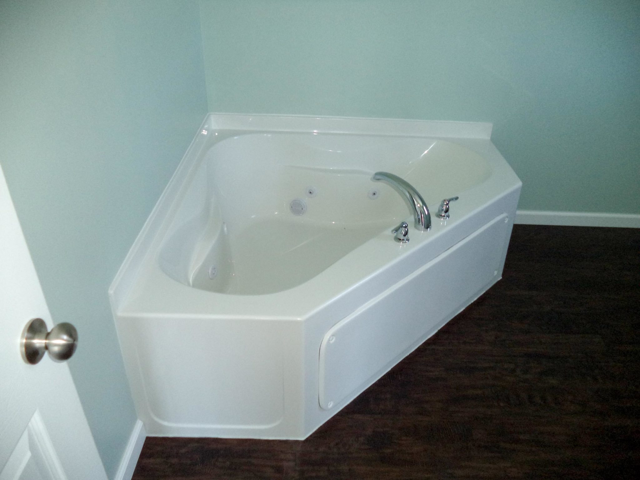 Stephens - Interior - Master Bath - Corner Whirlpool Tub - Completed ...